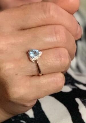 Кольцо с натуральный камнем топаз