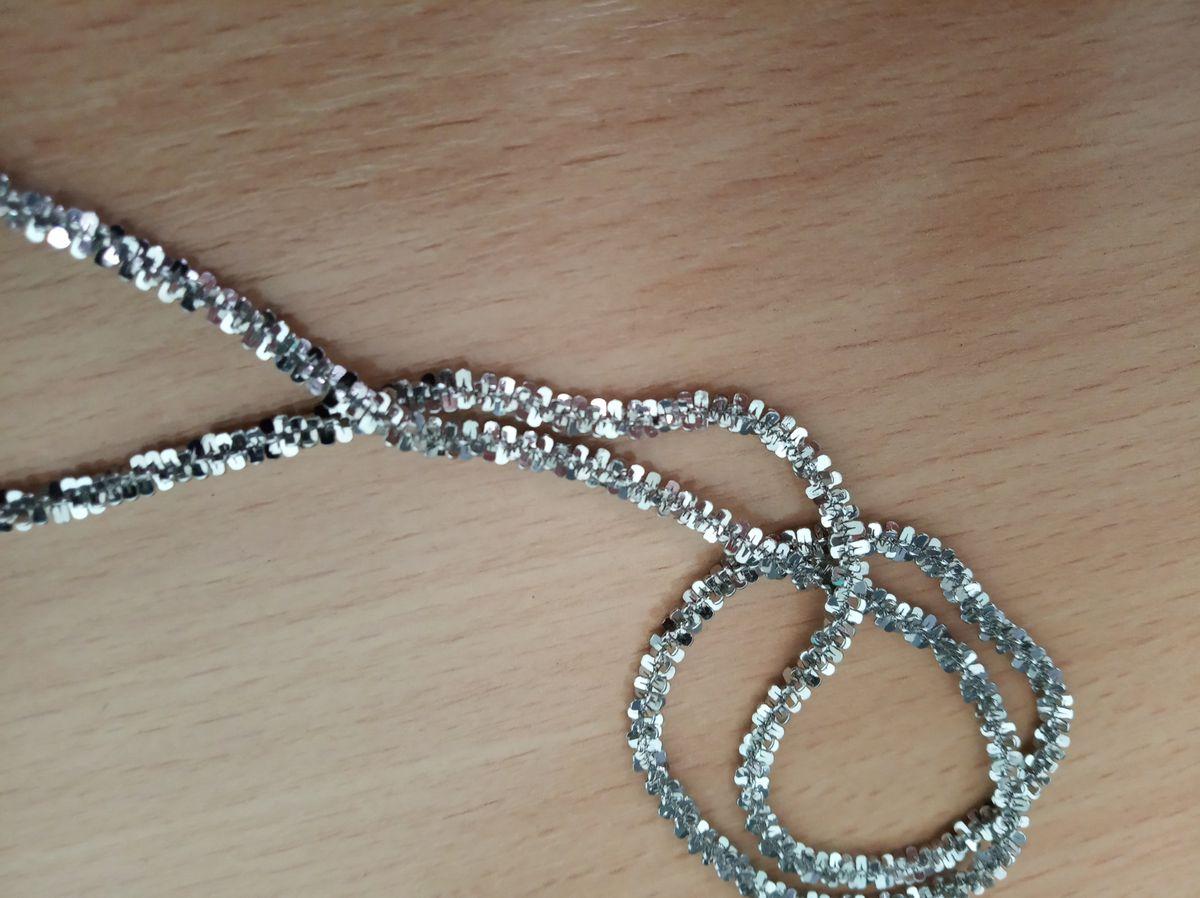 Витая серебряная цепь 55 см.