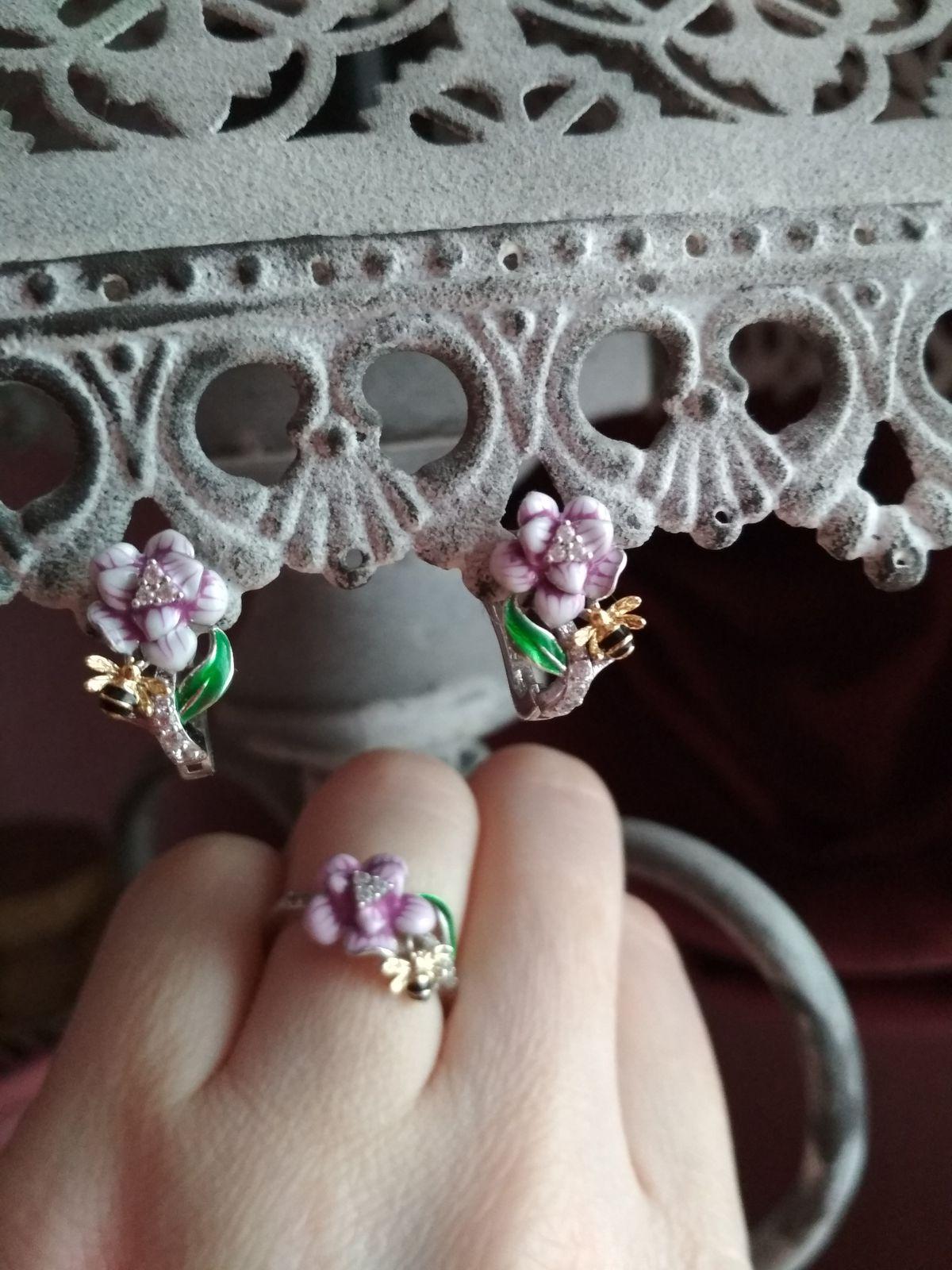 Серьги и кольцо!