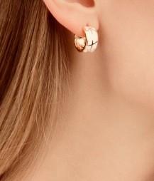 Серебрянные серьги с эмалью